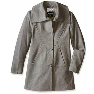 kensie Womens Long Sleeve Quilted Belted Down Coat
